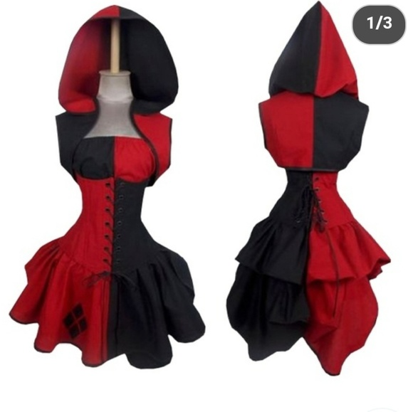 Dc Comics Dresses 312 Harley Quinn Corset Dress Costume Poshmark